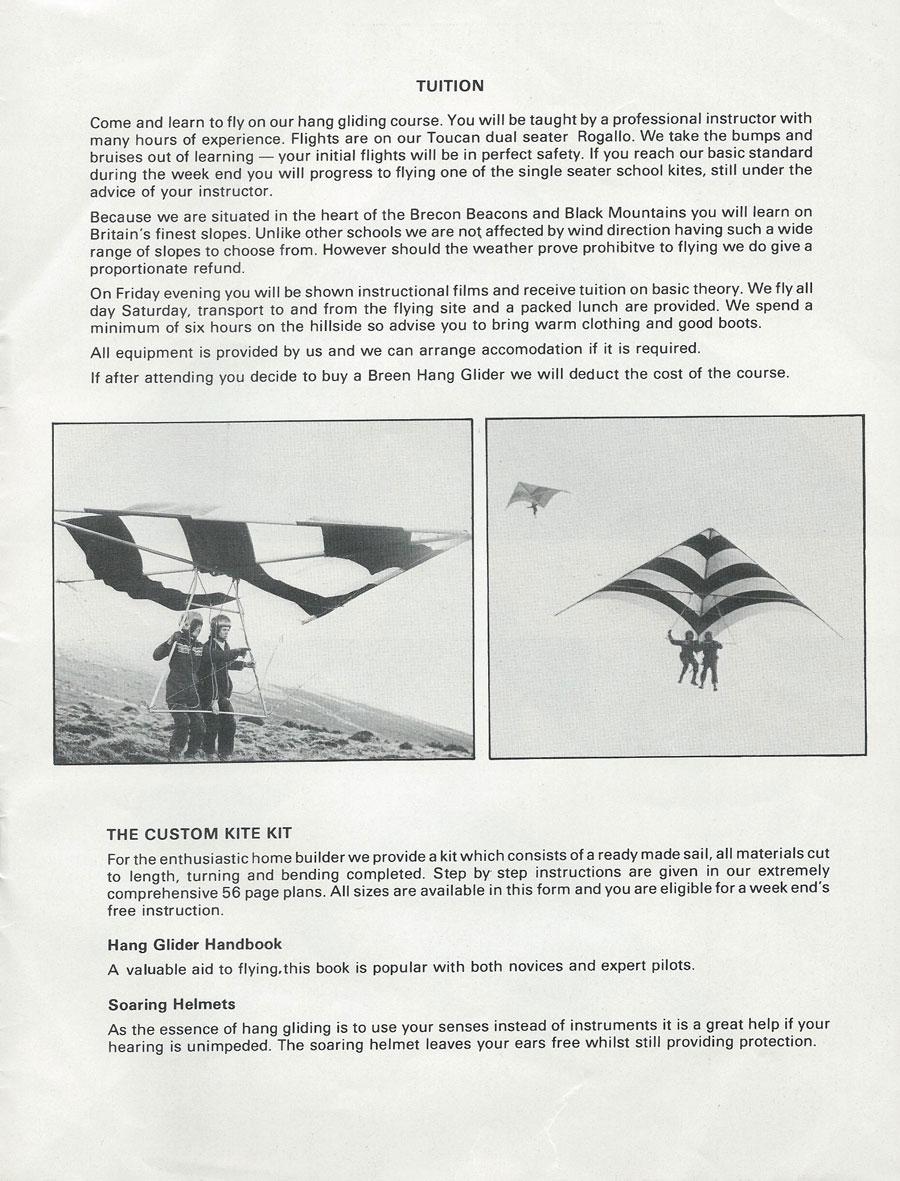 British Hang Gliding History  Gerry Breen Kustom Kites